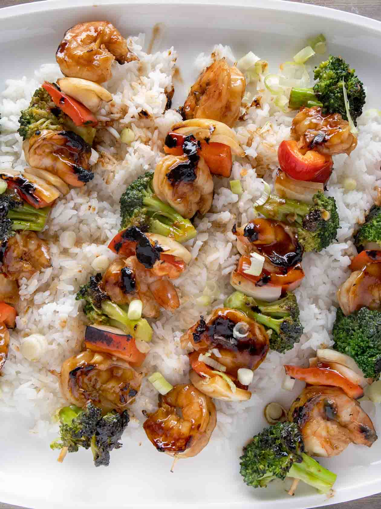 Asian-Style Grilled Shrimp and Broccoli Skewers